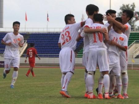 U-19 VN đoạt vé vào VCK Giải U-19 châu Á 2016. Ảnh: tư liệu