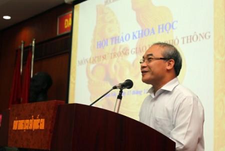 Thứ trưởng Nguyễn Vinh Hiển khẳng định Bộ GD-ĐT rất tôn trọng và chú ý lắng nghe các ý kiến đóng góp.