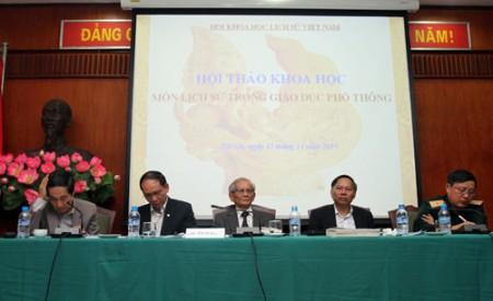 Hội Khoa học Lịch sử Việt Nam chủ trì buổi hội thảo.