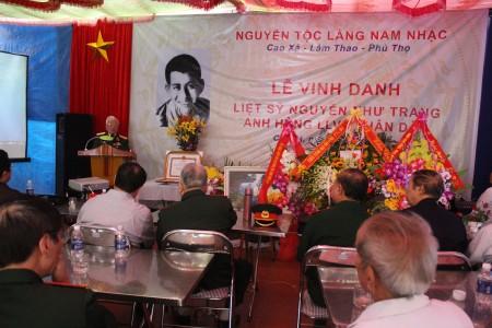 Lễ vinh danh Anh hùng liệt sỹ Nguyễn Như Trang.