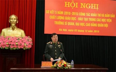 Thượng tướng Phạm Xuân Hùng phát biểu chỉ đạo hội nghị.