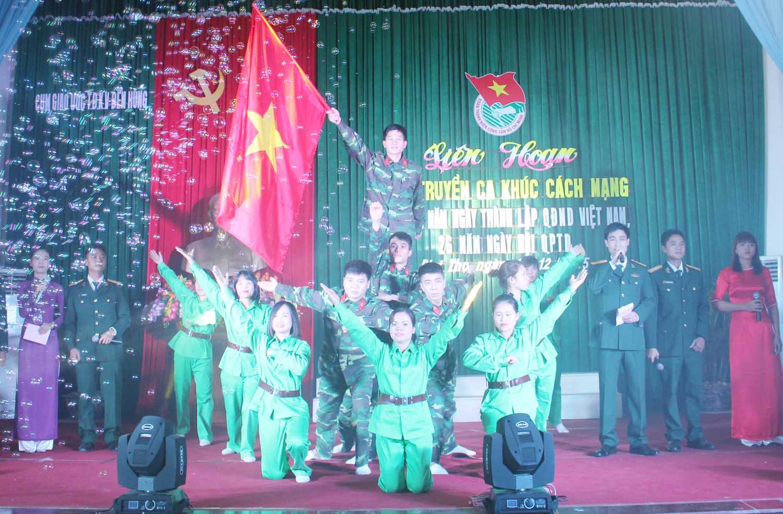 Tiết mục tham gia Liên hoan tuyên truyền ca khúc cách mạng của Trung đoàn vận