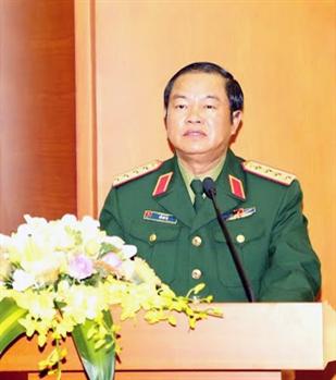Đại tướng Đỗ Bá Tỵ phát biểu chỉ đạo tại hội nghị.