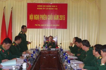 Thiếu tướngHoàng Hữu Thế phát biểu chỉ đạo Hội nghị.