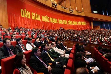 Các đại biểu dự Đại hội XII của Đảng.