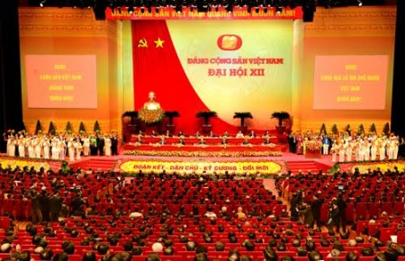 Đại hội đại biểu toàn quốc lần thứ XII của Đảng. Ảnh: Việt Cường