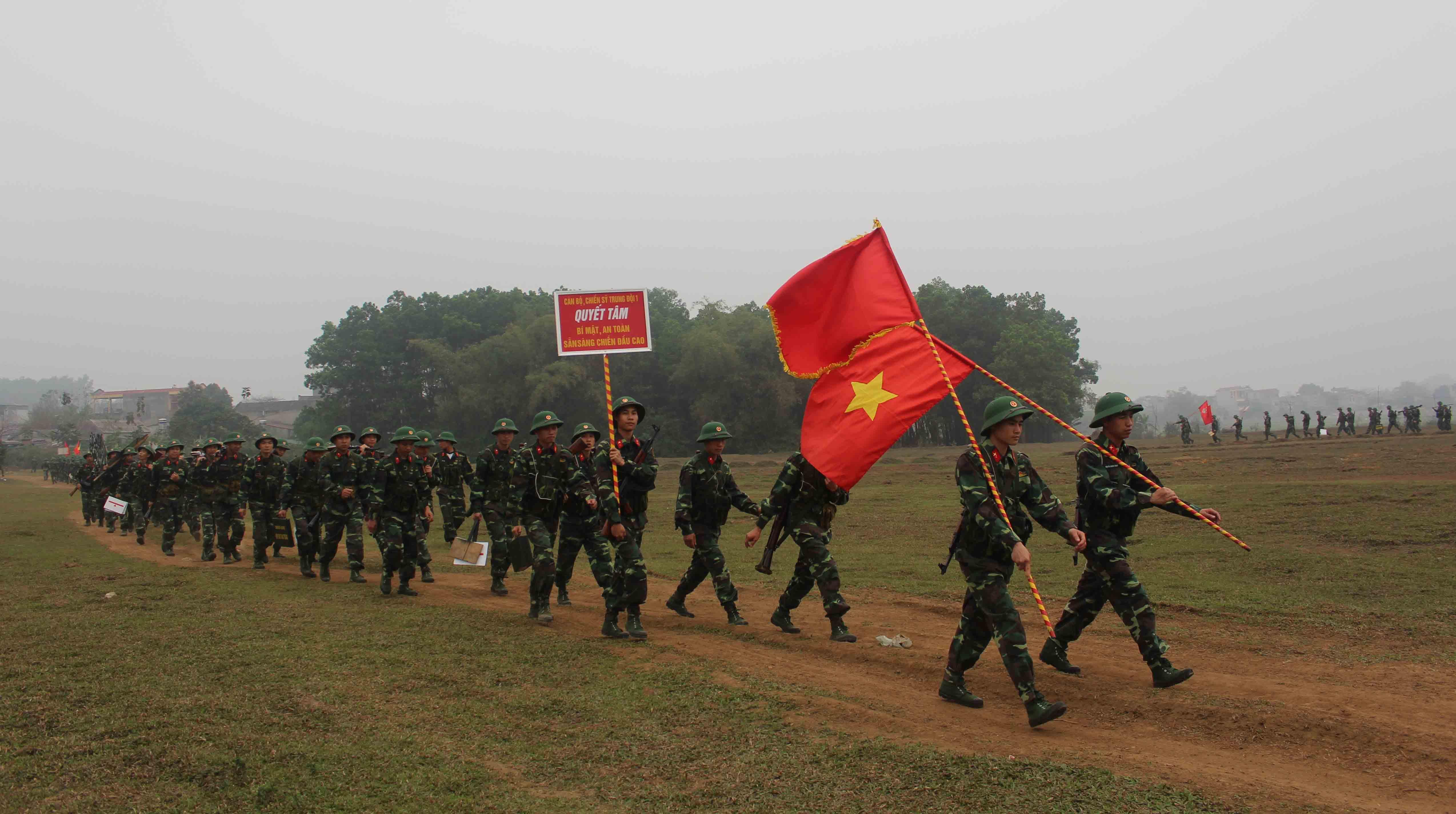 Chiến sỹ Trung đoàn 148 tự tin trên bãi tập