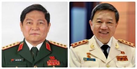 Đại tướng Ngô Xuân Lịch vàThượng tướng Tô Lâm được đề cử giữ chức vụ Bộ trưởng Bộ Quốc phòng và Bộ trưởng Bộ Công an.
