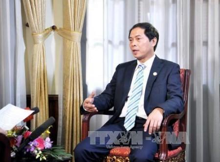 Thứ trưởng Ngoại giao Bùi Thanh Sơn (Ảnh: TTXVN)