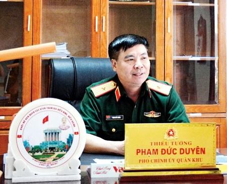 Thiếu tướng Phạm Đức Duyên, Phó chính ủy Quân khu 2. Ảnh: Tuấn Tú