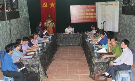 Hội nghị thông qua kế hoạch của các sở, ban ngành trong bảo đảm tác chiến phòng thủ.