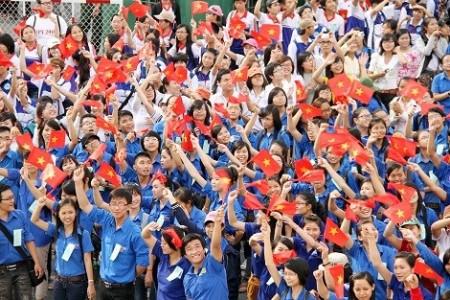 Thanh niên Việt Nam nguyện đóng góp sức trẻ góp phần đẩy mạnh toàn diện, đồng bộ công cuộc đổi mới. Ảnh minh họa: baochinhphu.vn.