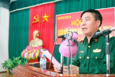 Thiếu tướng Phạm Đức Duyên phát biểu khai mạc Hội thi.