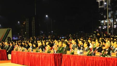 Các đại biểu tham dự buổi lễ.