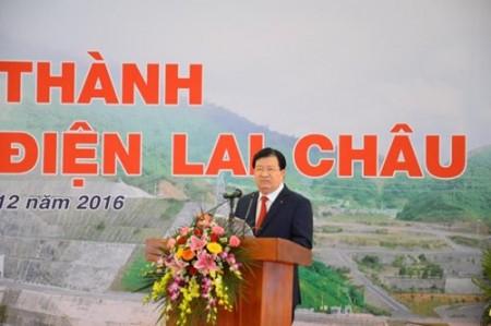 Phó thủ tướng Chính phủ Trịnh Đình Dũng phát biểu tại buổi lễ.