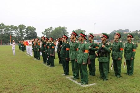Khối KSQS các đơn vị tham dự buổi lễ.