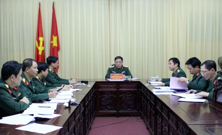 Thiếu tướng Hoàng Ngọc Dũng, Phó Tư lệnh Quân khu kết luận công tác phúc tra kết quả đầu tư các dự án, công trình tại Bộ CHQS tỉnh Yên Bái