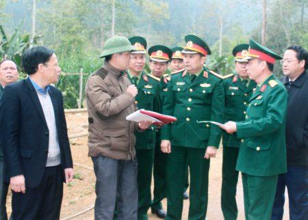 Kiểm tra công tác quy hoạch Ban CHQS huyện Bắc Hà.