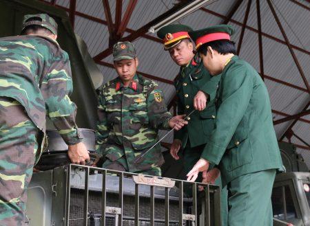 Duy trì nền nếp công tác kỹ thuật đối với xe thực hiện nhiệm vụ SSCĐ.