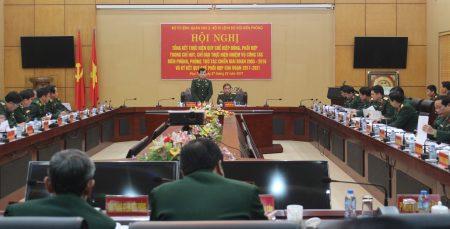 Trung tướng Hoàng Xuân Chiến, Ủy viên Trung ương Đảng, Tư lệnh Bộ đội Biên phòng phát biểu tại hội nghị.