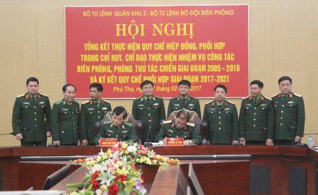 BTL Quân khu và BTL Bộ đội Biên phòng ký kết Quy chế phối hợp.