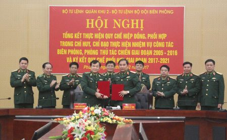 BTL Quân khu và BTL Bộ đội Biên phòng trao đổi Quy chế phối hợp.