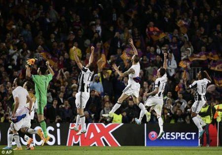 Xuất sắc loại Barcelona, Juventus tự tin trên hành trình ganh đua giành cúp Champions League danh giá. Ảnh: Dailymail