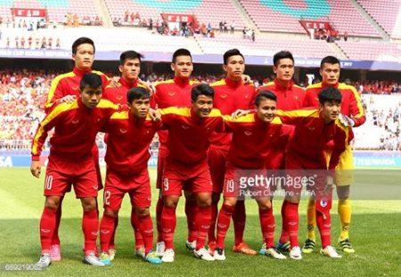 Đội hình ra sân của U20 Việt Nam. Ảnh: gettyimages.
