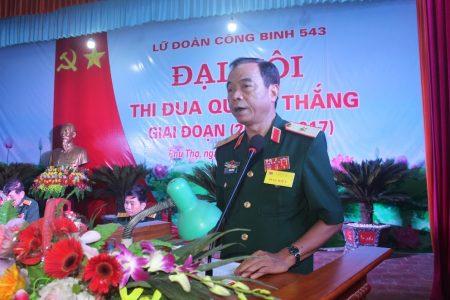Thiếu tướng Hoàng Hữu Thế phát biểu chỉ đạo hội nghị.