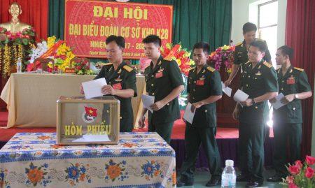 Các đại biểu bầu BCH Đoàn cơ sở Kho K28 nhiệm kỳ 2017-2022.