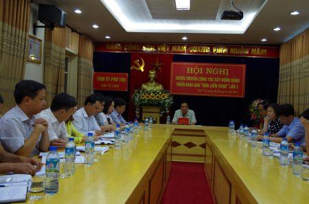 """Hội nghị triển khai Giải báo chí """"Búa liềm vàng"""" tỉnh Phú Thọ."""